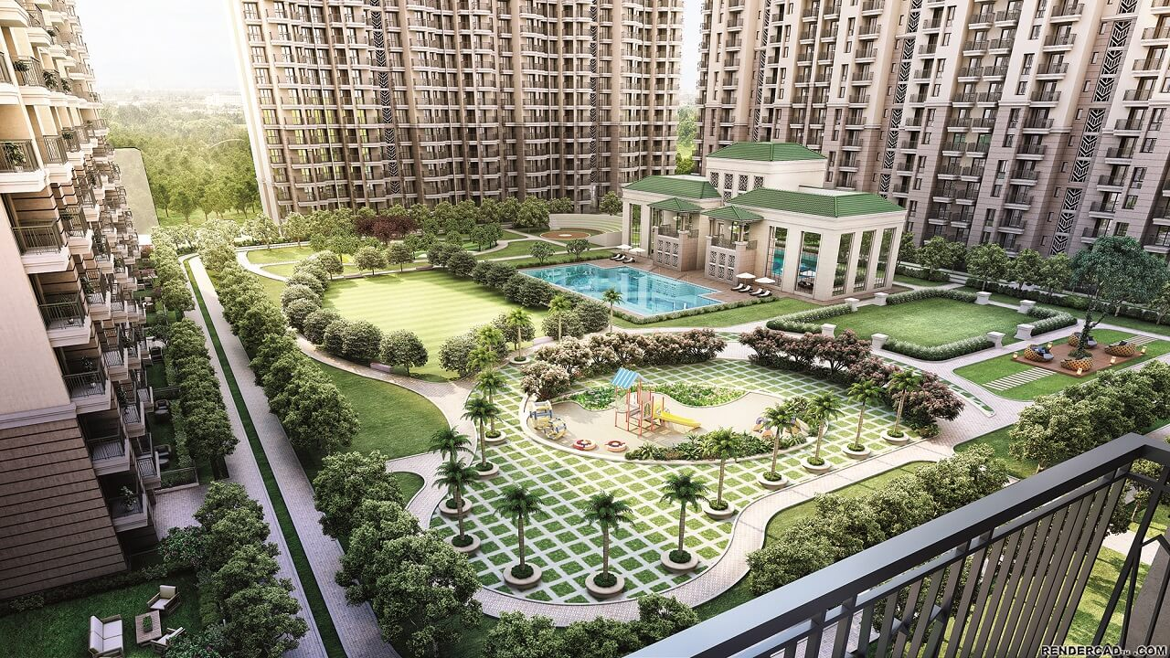 HomeKraft Luxurious Apartments - Central Balcony view