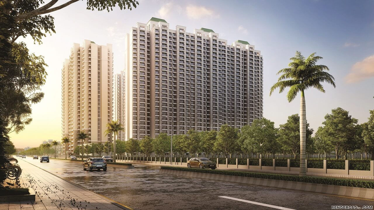 HomeKraft Luxurious Apartments - Road side view