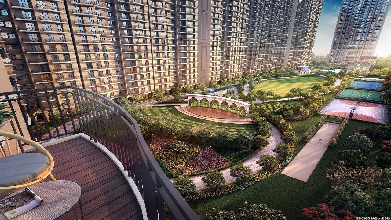 HomeKraft Luxurious Apartments - balcony view